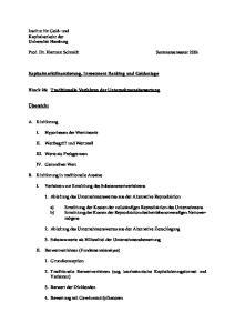 Prof. Dr. Hartmut Schmidt Sommersemester Kapitalmarktfinanzierung, Investment Banking und Geldanlage