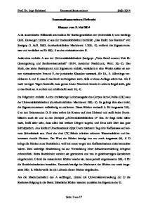 Prof. Dr. Ingo Reichard Examensklausurenkurs SoSe Examensklausurenkurs Zivilrecht. Klausur vom 9. Mai 2014