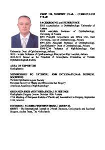 PROF. DR. MEHMET UNAL CURRICULUM VITAE