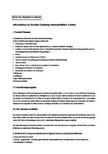 PROF. DR. RAIMUND LACHNER. Informationen zur formalen Gestaltung wissenschaftlicher Arbeiten. I. Formale Elemente. II. Formatierungsvorgaben