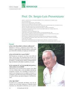Prof. Dr. Sergio Luis Provenzano