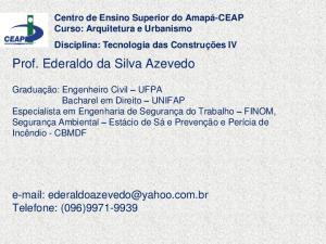 Prof. Ederaldo da Silva Azevedo