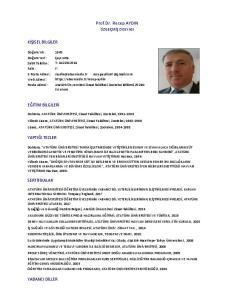 Prof.Dr. Recep AYDIN