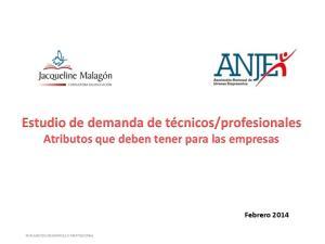 profesionales Atributos que deben tener para las empresas Febrero 2014