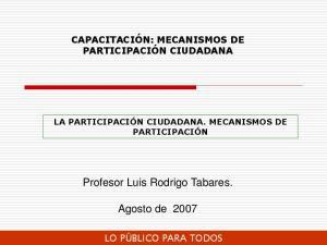 Profesor Luis Rodrigo Tabares. Agosto de 2007