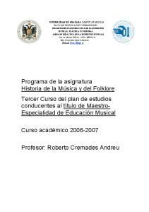 Profesor: Roberto Cremades Andreu
