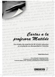 profesora Matilde Cartas a la