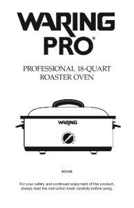 PROFESSIONAL 18-QUART ROASTER OVEN