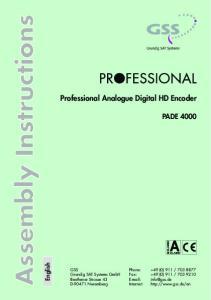 Professional Analogue Digital HD Encoder