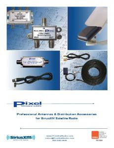 Professional Antennas & Distribution Accessories for SiriusXM Satellite Radio