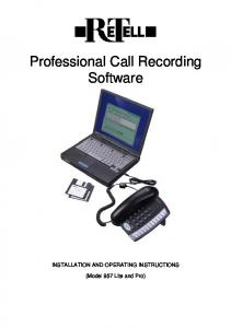 Professional Call Recording Software