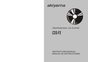 PROFESSIONAL CD PLAYER CDS-FX