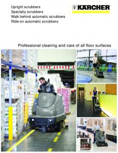 Professional cleaning and care of all floor surfaces