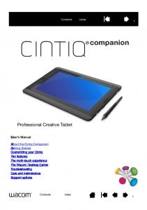Professional Creative Tablet. User s Manual