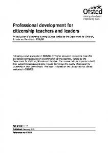 Professional development for citizenship teachers and leaders