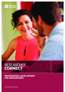 PROFESSIONAL DEVELOPMENT FOR RESEARCHERS PROFESSIONAL DEVELOPMENT FOR RESEARCHERS