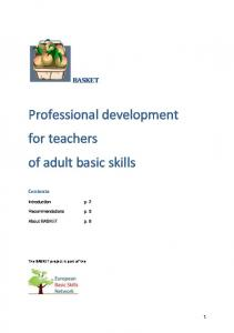 Professional development for teachers of adult basic skills