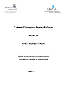 Professional Development Program Evaluation
