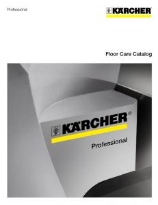 Professional. Floor Care Catalog