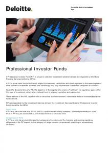 Professional Investor Funds