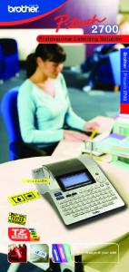 Professional Labelling Solution. Brother P-touch mm. < Always at your side