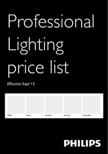 Professional Lighting price list