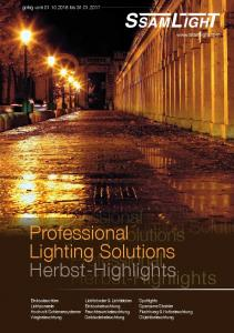 Professional. Lighting Solutions. Professional. Herbst-Highlights