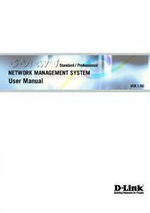 Professional NETWORK MANAGEMENT SYSTEM. User Manual VER.1.00