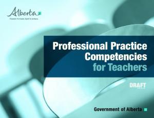 Professional Practice Competencies for Teachers