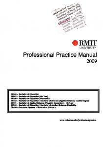 Professional Practice Manual 2009