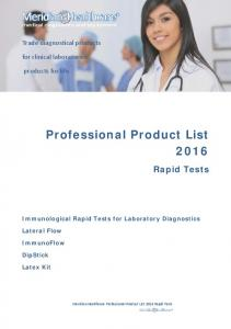 Professional Product List 2016
