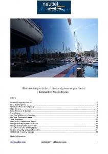 Professional products to clean and preserve your yacht