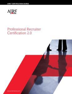 Professional Recruiter Certification 2.0