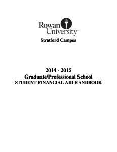 Professional School STUDENT FINANCIAL AID HANDBOOK