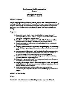 Professional Staff Organization Bylaws