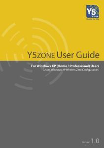 Professional) Users (Using Windows XP Wireless Zero Configuration)
