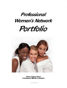 Professional Women s Network. Portfolio. Women Helping Women