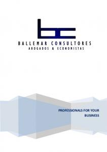 PROFESSIONALS FOR YOUR BUSINESS