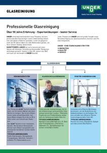 Professionelle Glasreinigung