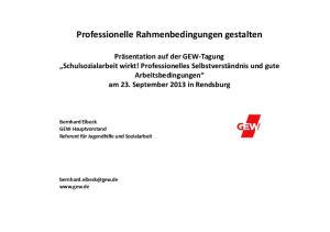 Professionelle Rahmenbedingungen gestalten