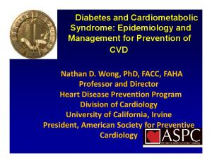 Professor and Director Heart Disease Prevention Program Division of Cardiology. President, American Society for Preventive Cardiology