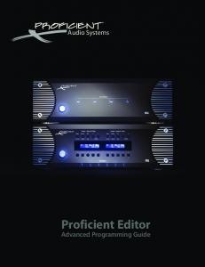 Proficient Editor Advanced Programming Guide