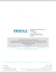 Profile Issues in Teachers' Professional Development ISSN: Universidad Nacional de Colombia Colombia