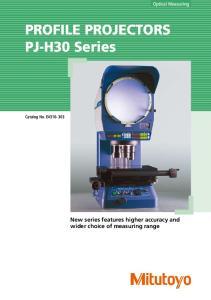 PROFILE PROJECTORS PJ-H30 Series
