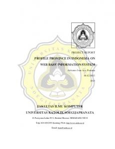 PROFILE PROVINCE IN INDONESIA ON WEB BASE INFORMATION SYSTEM