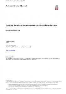 Profiling of viral safety of biopharmaceuticals from milk from Danish dairy cattle