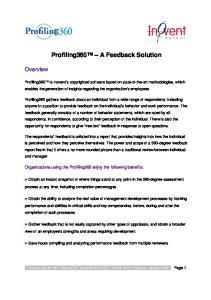 Profiling360 A Feedback Solution