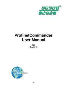 ProfinetCommander User Manual 5.00 Dec 2015