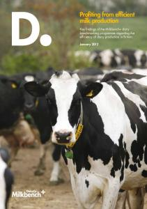 Profiting from efficient milk production