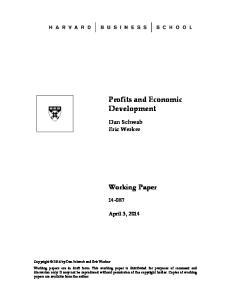 Profits and Economic Development